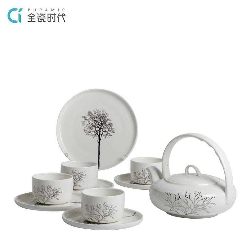 全瓷时代英雄本色茶具-1壶4杯碟