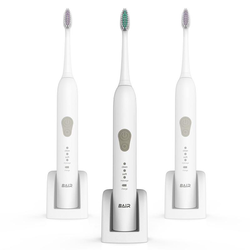 拜尔 电动牙刷X5钻石白 成人充电式牙刷美白锂电池(配5个刷头)