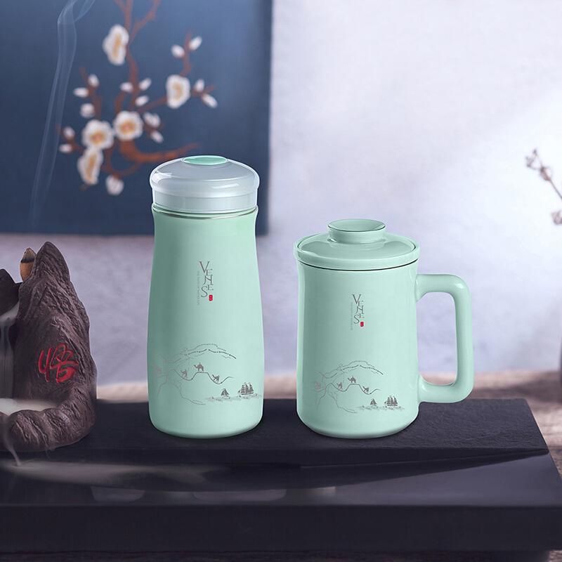 菲驰玺玉养生青瓷套装 VT206