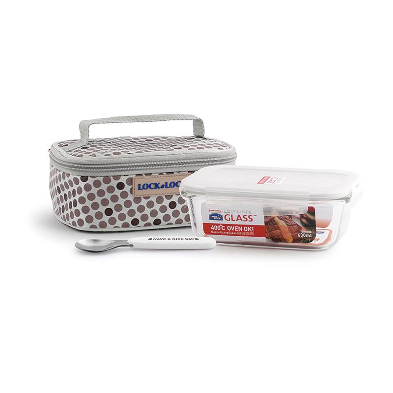 乐扣乐扣耐热玻璃保鲜盒提袋组合LLG 906FU