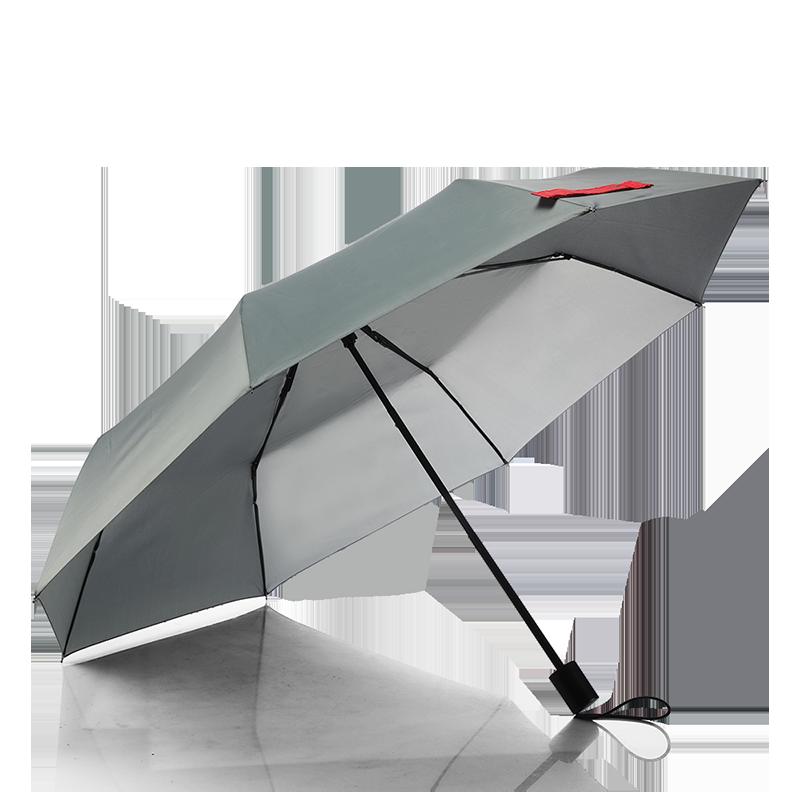 多样屋灰色经典三折手动伞SP120203011ZZ