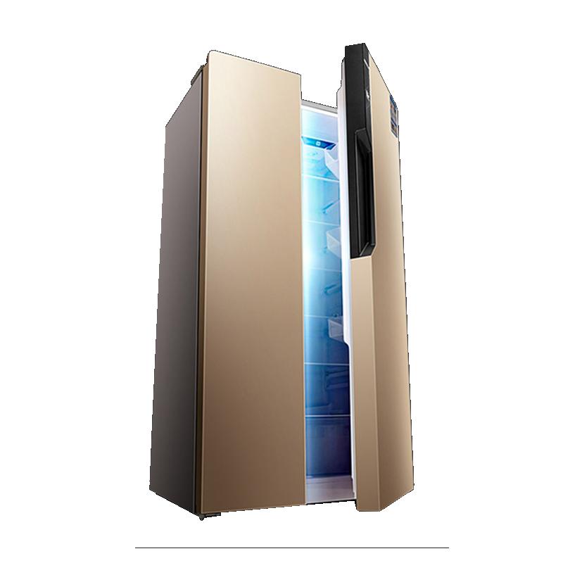 康佳(KONKA)405升 对开门冰箱 风冷无霜 隐藏式把手 BCD-405WD5EGX 金色