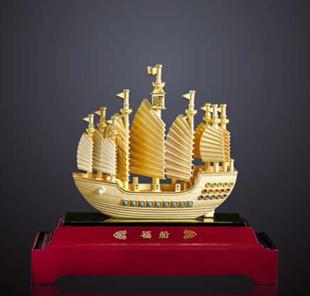 用金纸叠船的步骤
