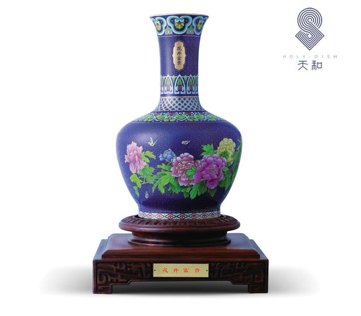 和瓷 《花开富贵》花瓶