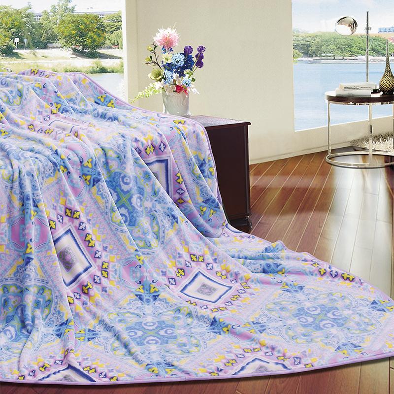 富安娜法兰绒毯-水墨江南1.5米