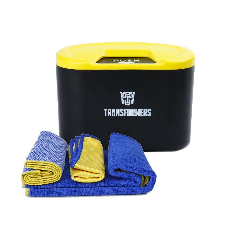 固特异超纤清洁毛巾套装+变形金刚车载收纳桶