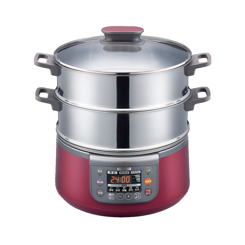 SUPOR/苏泊尔电蒸锅 ZN28YK7-150 不锈钢双层电蒸锅多功能家用新品