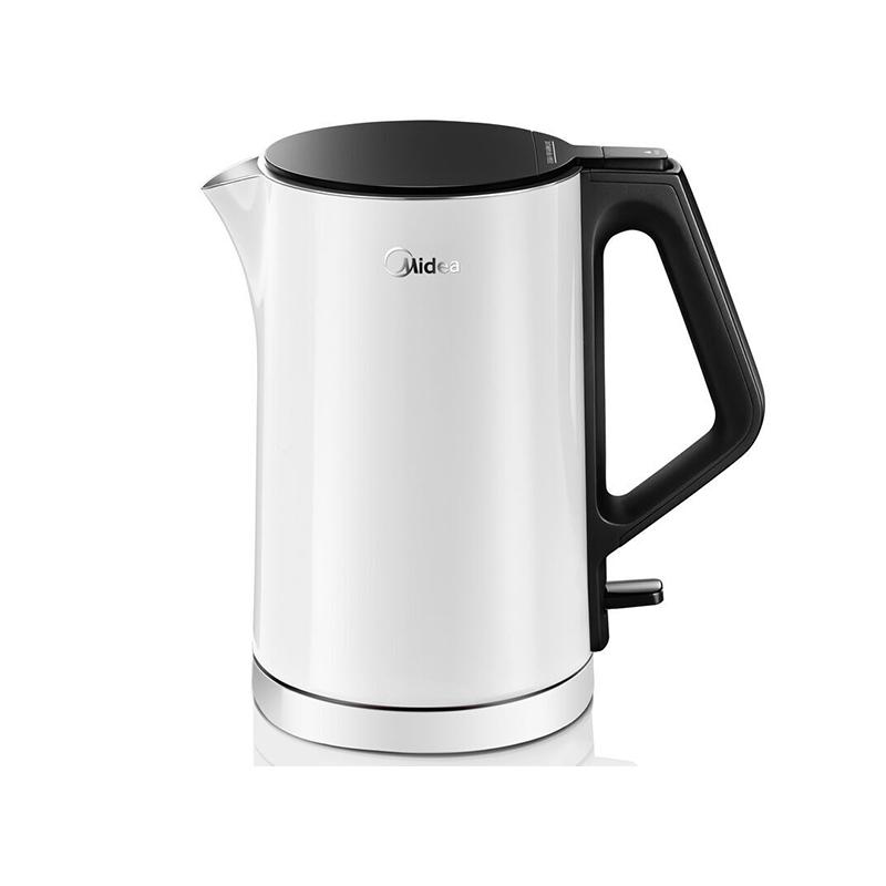 美的(Midea)电水壶1.5L 304不锈钢电热水壶 双层防烫保温烧水壶