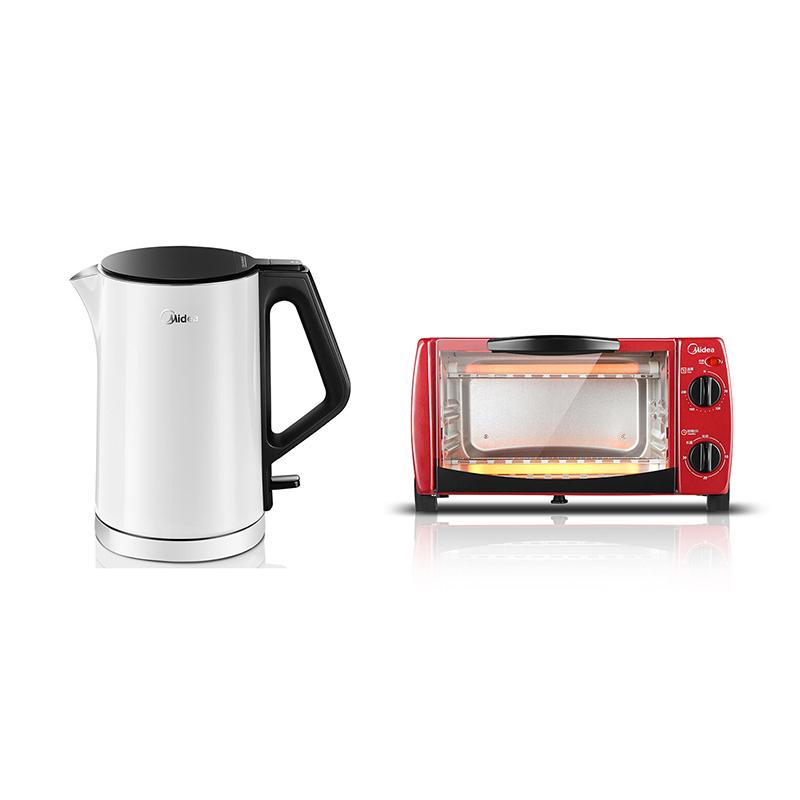 美的电水壶+电烤箱组合