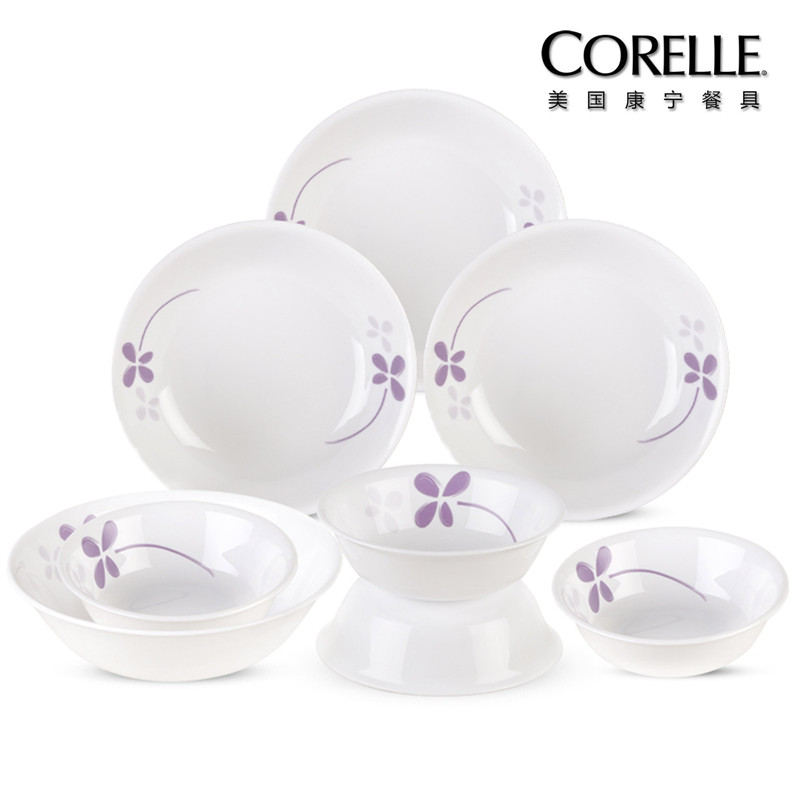 CORELLE 美国康宁餐具 – 紫色幸运草系列CR-NWP02(八件套)