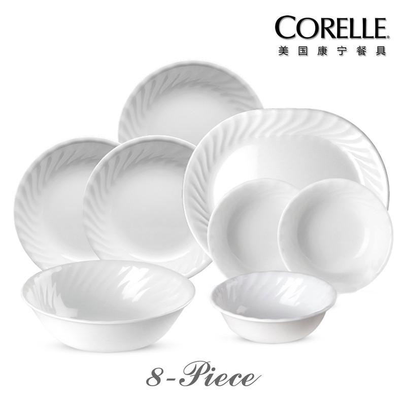 CORELLE 美国康宁餐具 – 螺纹系列 CR-W03(八件套)