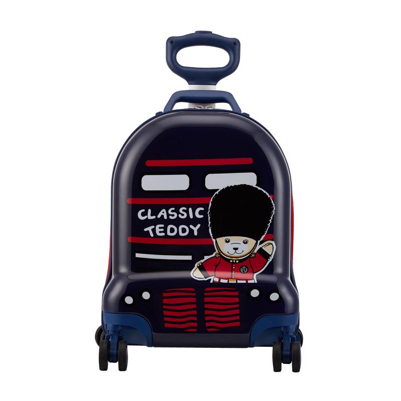 外交官Diplomat 精典泰迪 时尚可爱 儿童休闲拉杆箱TT-1708 深蓝色