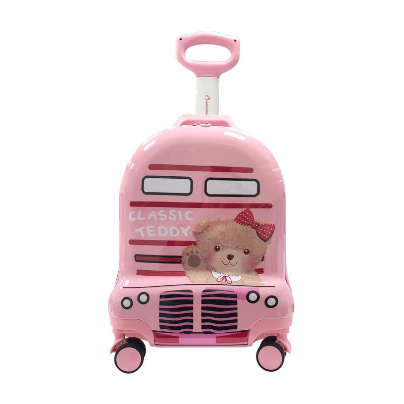 外交官Diplomat 精典泰迪 时尚可爱 儿童休闲拉杆箱TT-1709 粉色