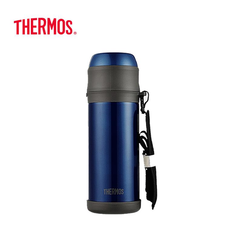 膳魔师(THERMOS)大容量真空保温杯壶 1000mL TCBI-1000 蓝色