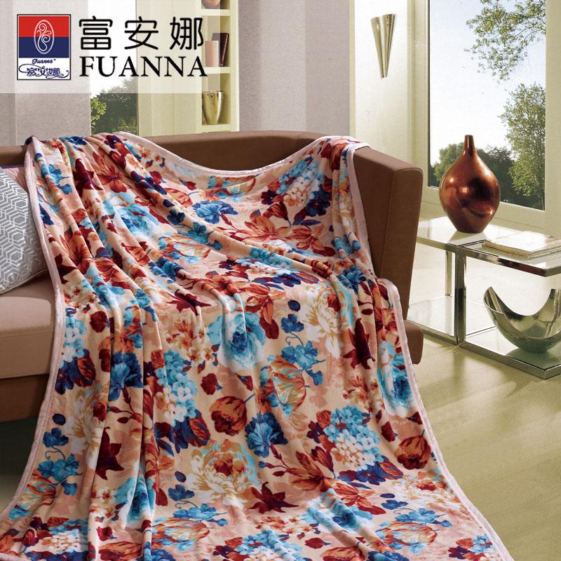 富安娜风姿溢彩法兰绒毯 空调毯