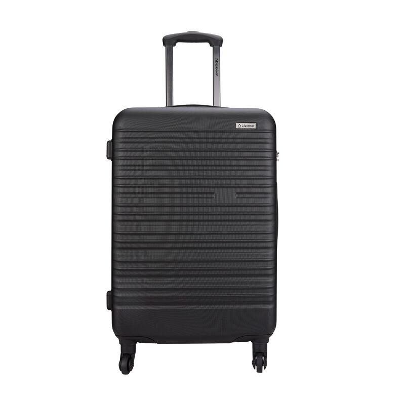 外交官Diplomat 商务休闲拉杆箱24英寸 YH-6203【黑色】
