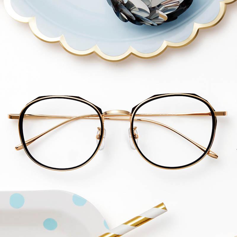 海伦凯勒官方新款个性潮流眼镜框女时尚多边形镜架可配近视H26075