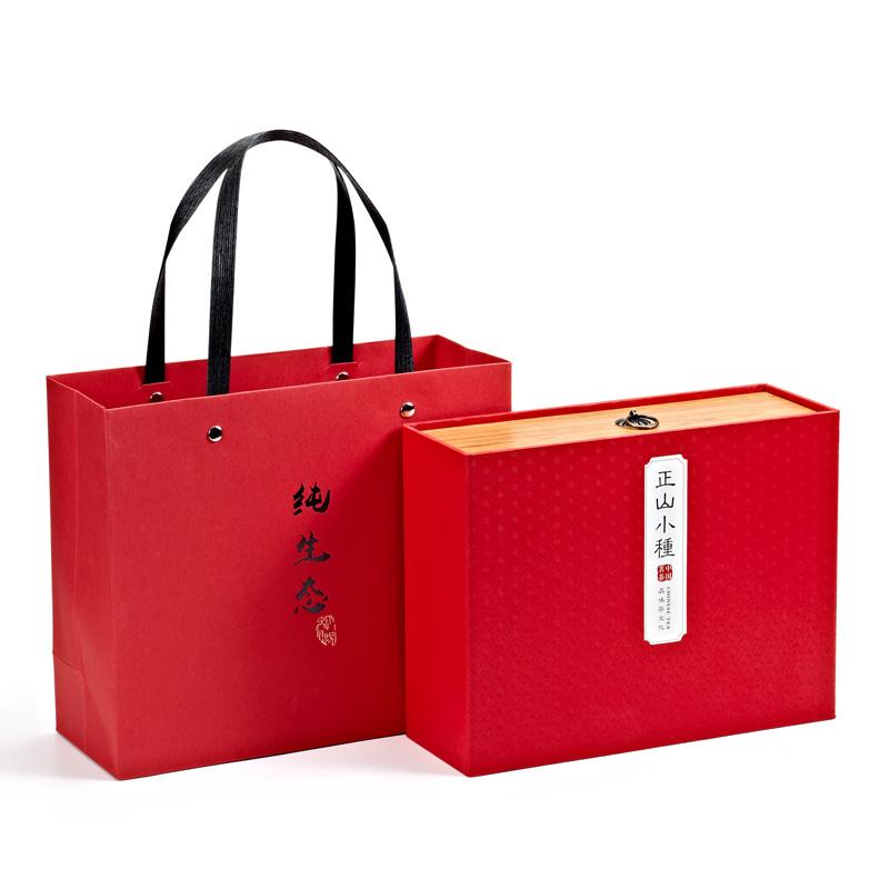 卷莲茶礼--红茶正山小种130克-仿木盒装CXY-0001-0002