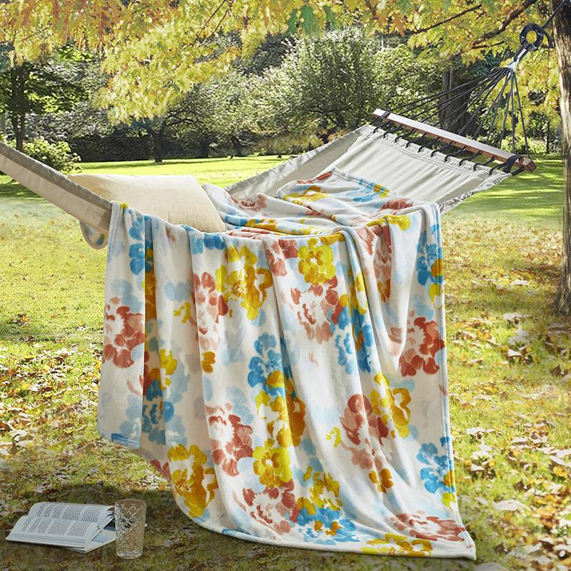 LOVO 家纺 罗莱生活荣誉出品 烂漫法兰绒毯