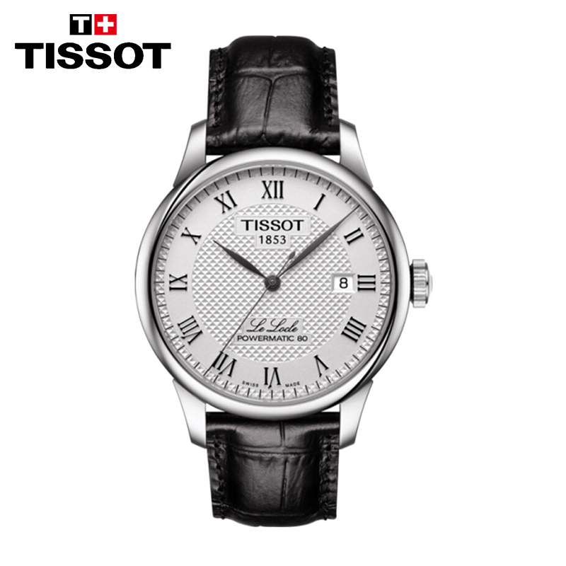 TISSOT天梭瑞士手表 力洛克系列商务休闲机械男表 T006.407.16.033.00 新款