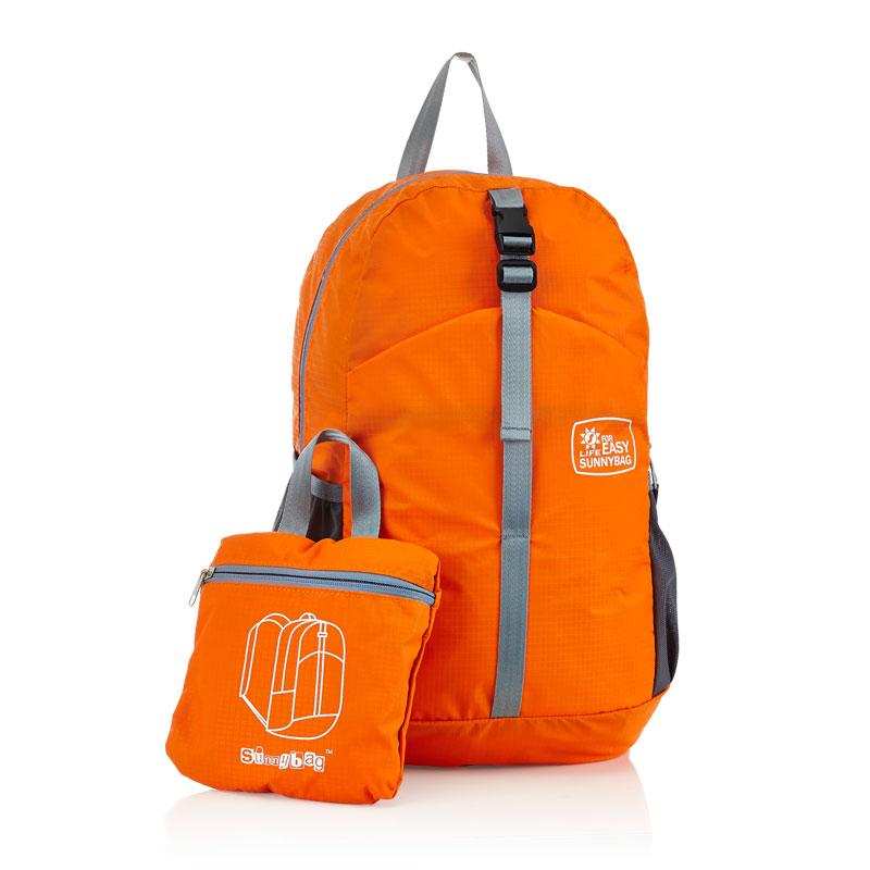 日光轻城 轻城  ·极简主义折叠双肩包橙色N17橙色