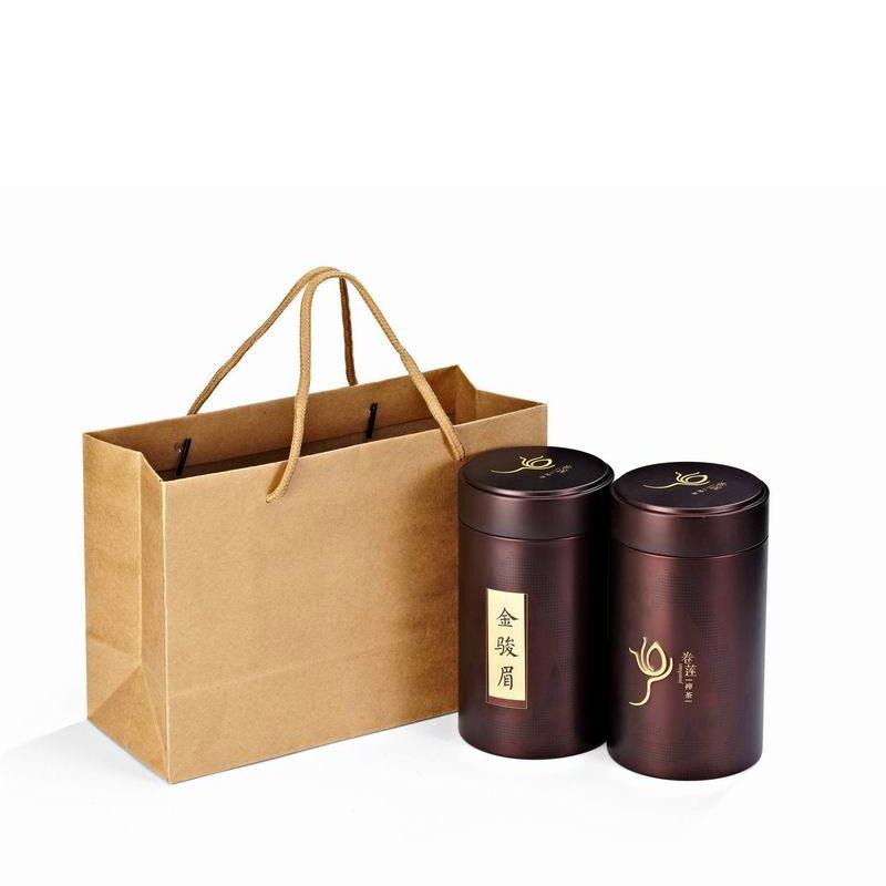 卷莲茶礼-红茶金骏眉100克-两罐手提袋装CXY-0001-0007
