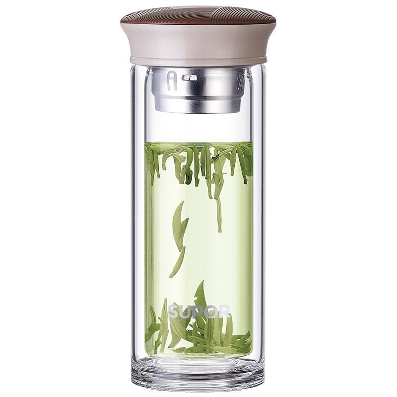 苏泊尔 随行双层耐热玻璃杯·晶韵系列 KC28AU1
