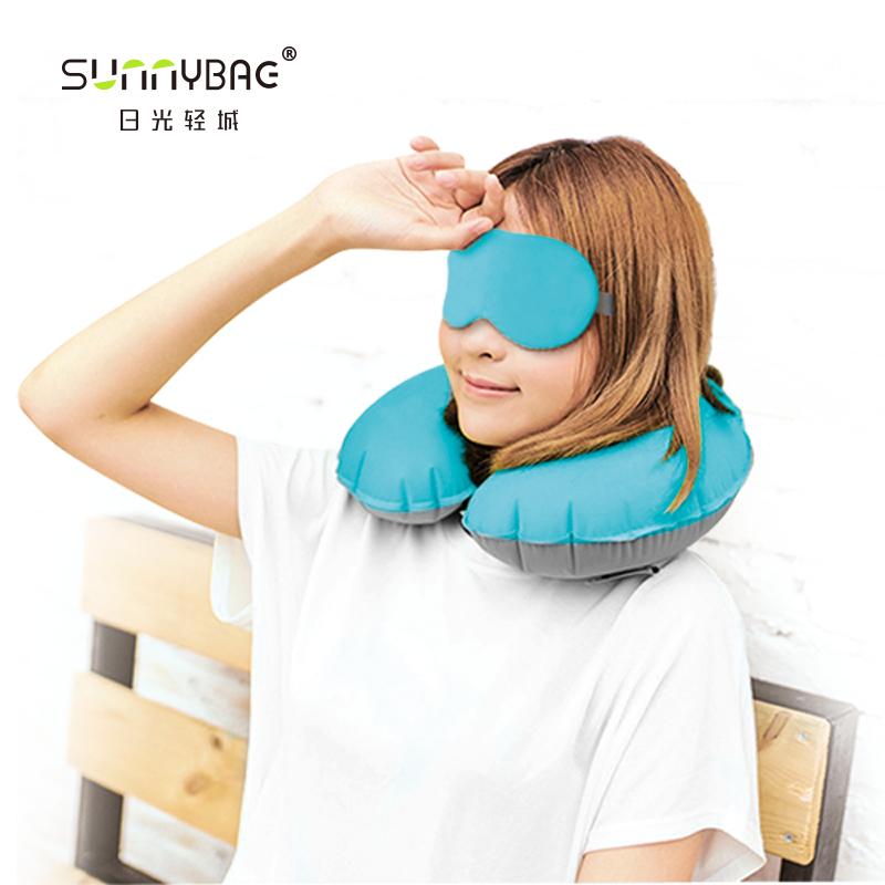 日光轻城魅之蓝  高档丝滑充气三件套(颈枕+眼罩+耳塞+高档包装盒)SNB-1624