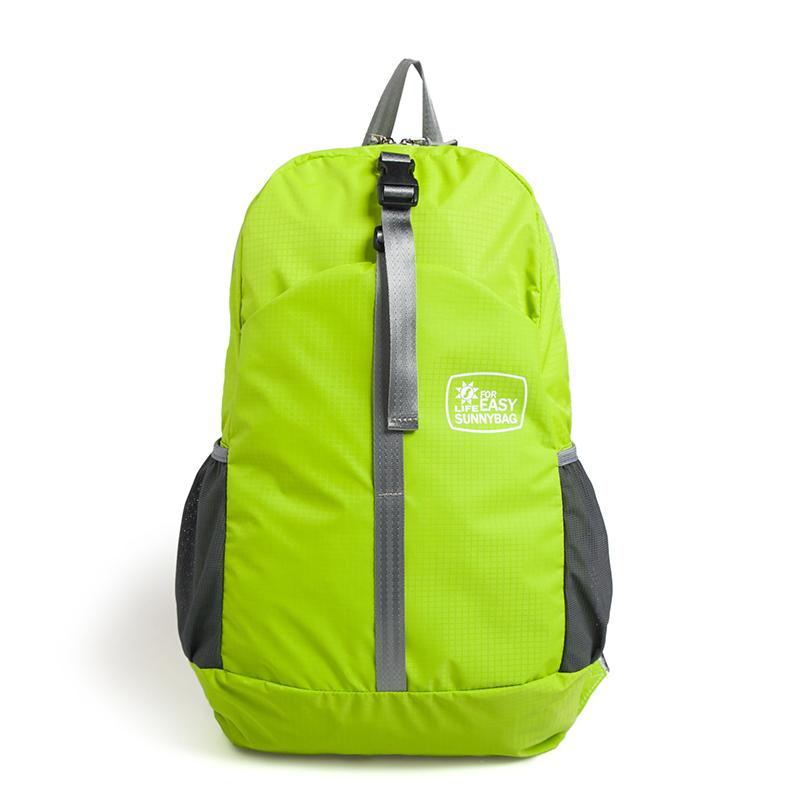 日光轻城 轻城  ·极简主义折叠双肩包绿色N17绿色