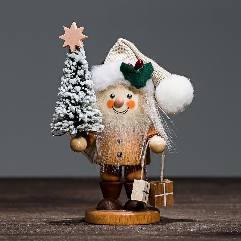 德国原产Christian Ulbricht木质手工艺木偶圣诞老人挂饰