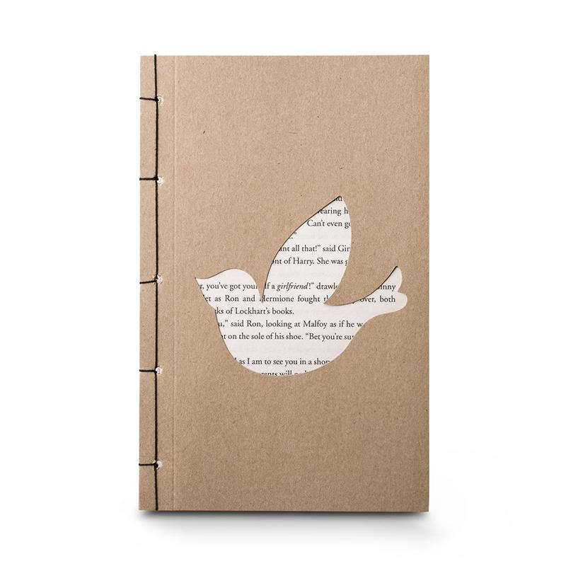 韩国原产 JIGOONAMOO 环保纸笔记本日记本EMMA小鸟图案