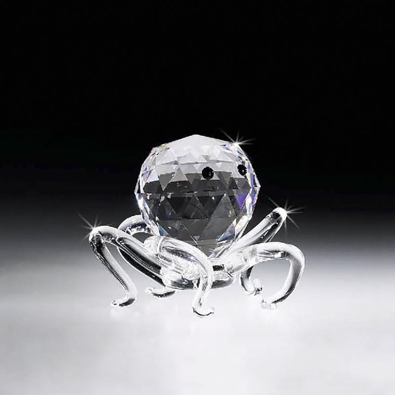意大利原产Ranoldi水晶摆件 章鱼创意摆件 生日情人节礼物