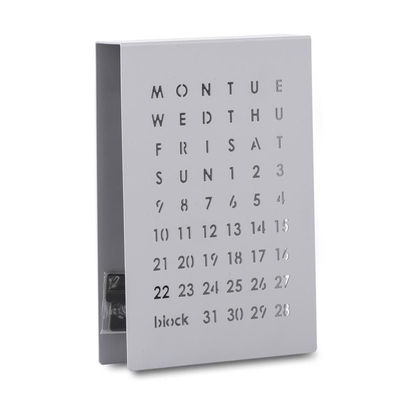英国原产block创意万年历日历(灰色)