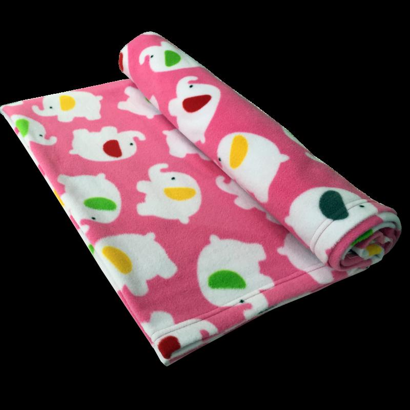 英国原产Babble Kids粉色小象婴儿毯儿童毯棉毯子