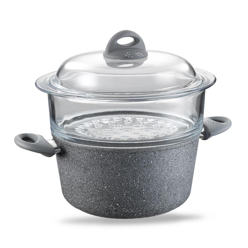 意大利原产ALMA伊特拉斯坎系列不粘锅蒸煮锅多用途锅24cm