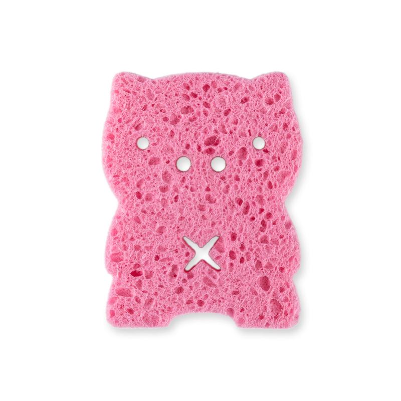 韩国原产ange卡通婴儿沐浴棉沐浴擦宝宝洗澡专用海绵小猪