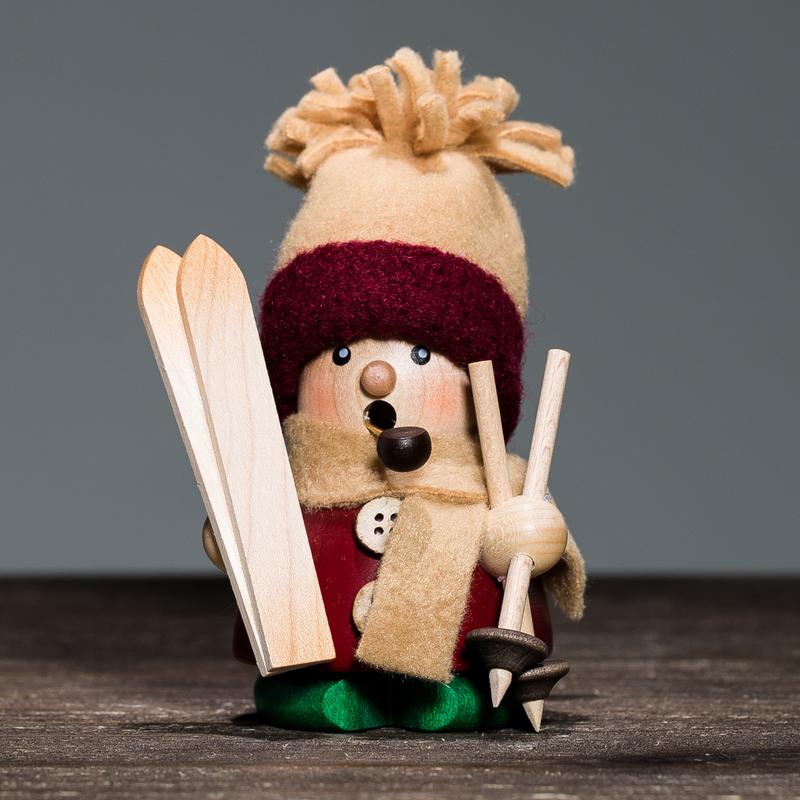 德国原产Christian Ulbricht木质手工香薰木偶滑冰的宝宝