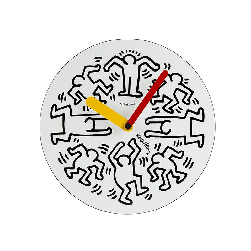 意大利原产Creativando房屋装饰创意挂钟钟表时钟黑色 S