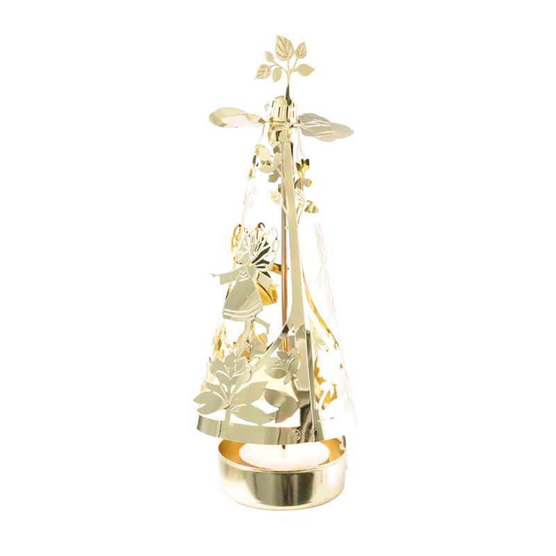 丹麦原产Jette Frolich 镀金旋转木马烛台餐烛架摆件魔法仙女