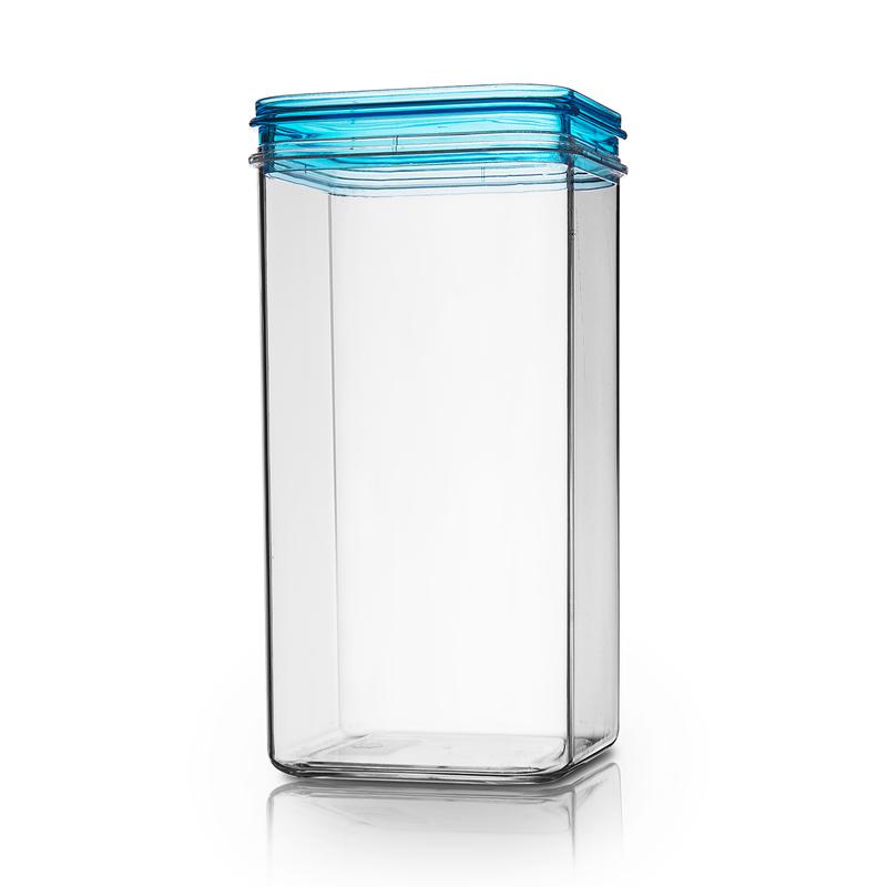 意大利原产Cosmoplast 方形收纳罐 塑料储物罐浅蓝