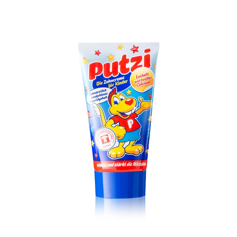 德国原产Putzi璞慈儿童防蛀牙加钙牙膏50ml