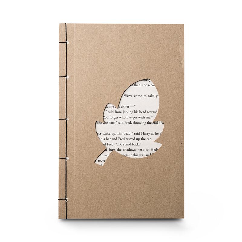 韩国原产JIGOONAMOO 环保纸笔记本EMMA叶子镂空图案