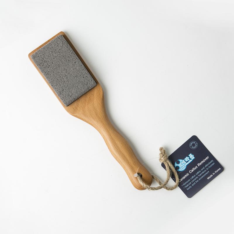 【已售罄】韩国Cerafoam蜂巢形陶瓷发泡木柄去死皮磨脚石搓脚板脚锉