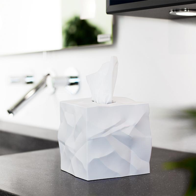 丹麦原产essey Wipy Cube创意褶皱纸巾盒抽纸盒 无底座