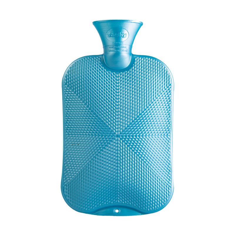 德国原产fashy注水防爆热水袋暖手宝暖水袋颗粒格子纹