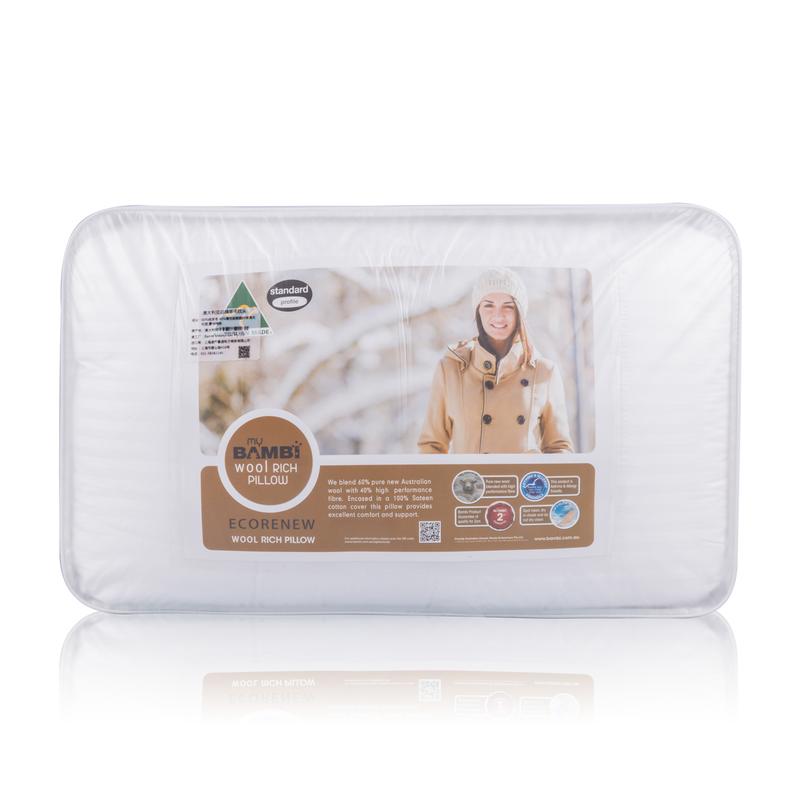 澳大利亚原产Ecorenew澳洲羊毛枕羊毛枕头枕芯