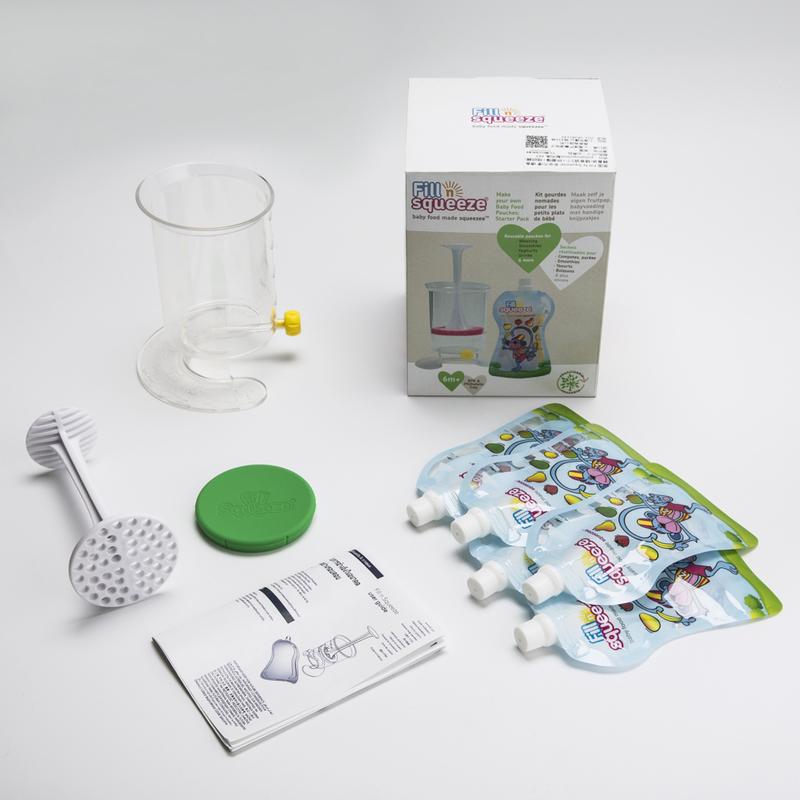 英国原产Fill n squeeze便携式婴儿辅食器研磨套装