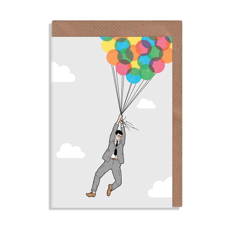 英国原产ROBBIE PORTER创意明信片礼物贺卡放飞气球