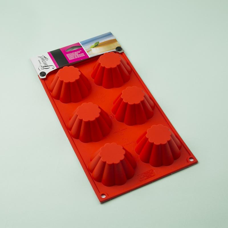 意大利原产Gamme gourmet 布里欧修6连硅胶模烘焙工具