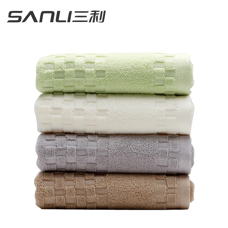 三利素雅面巾2条礼盒装毛巾